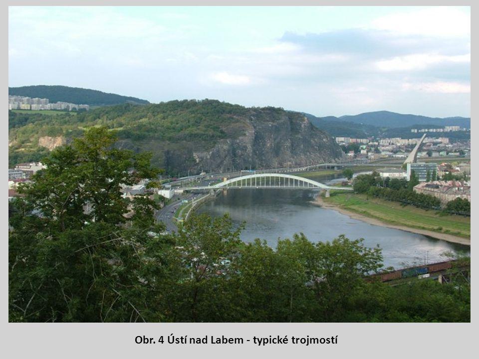 Obr. 4 Ústí nad Labem - typické trojmostí
