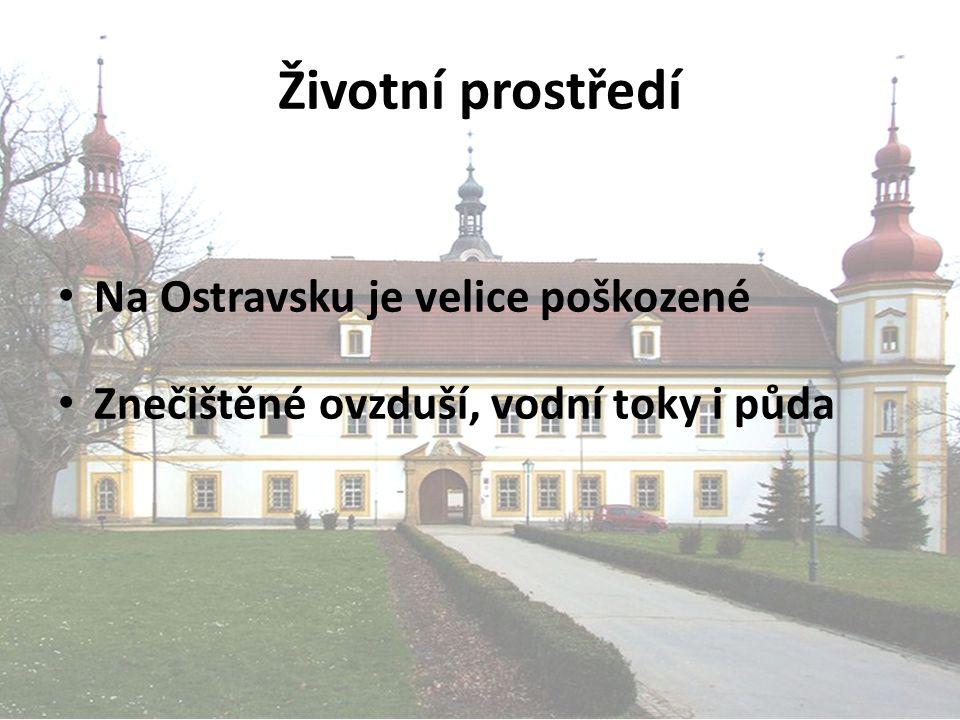 Životní prostředí Na Ostravsku je velice poškozené Znečištěné ovzduší, vodní toky i půda