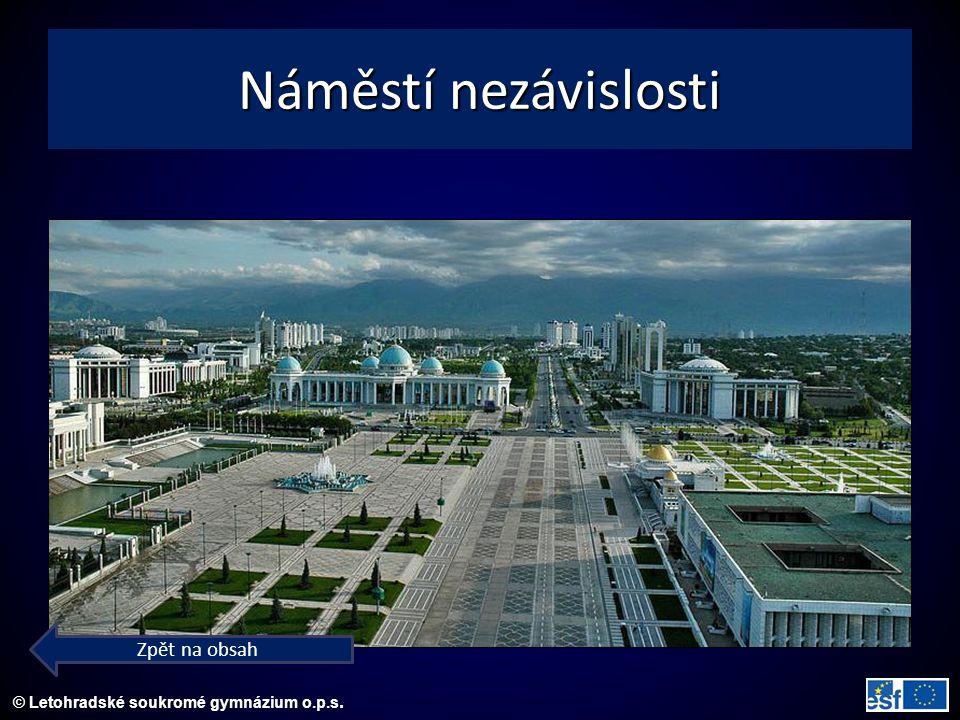 © Letohradské soukromé gymnázium o.p.s. Náměstí nezávislosti Zpět na obsah
