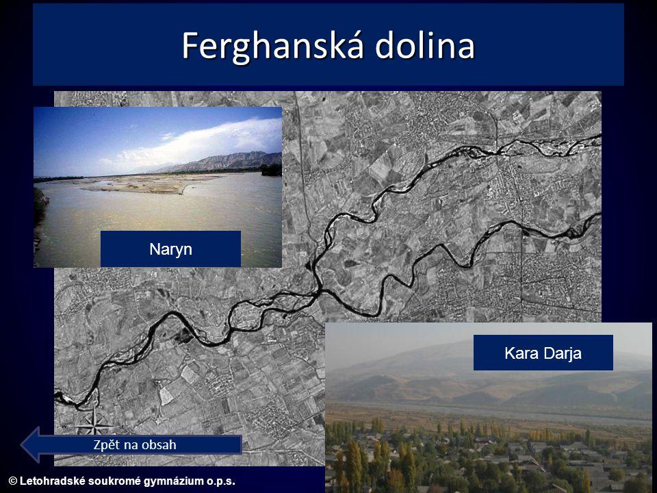 © Letohradské soukromé gymnázium o.p.s. Ferghanská dolina Naryn Kara Darja Zpět na obsah