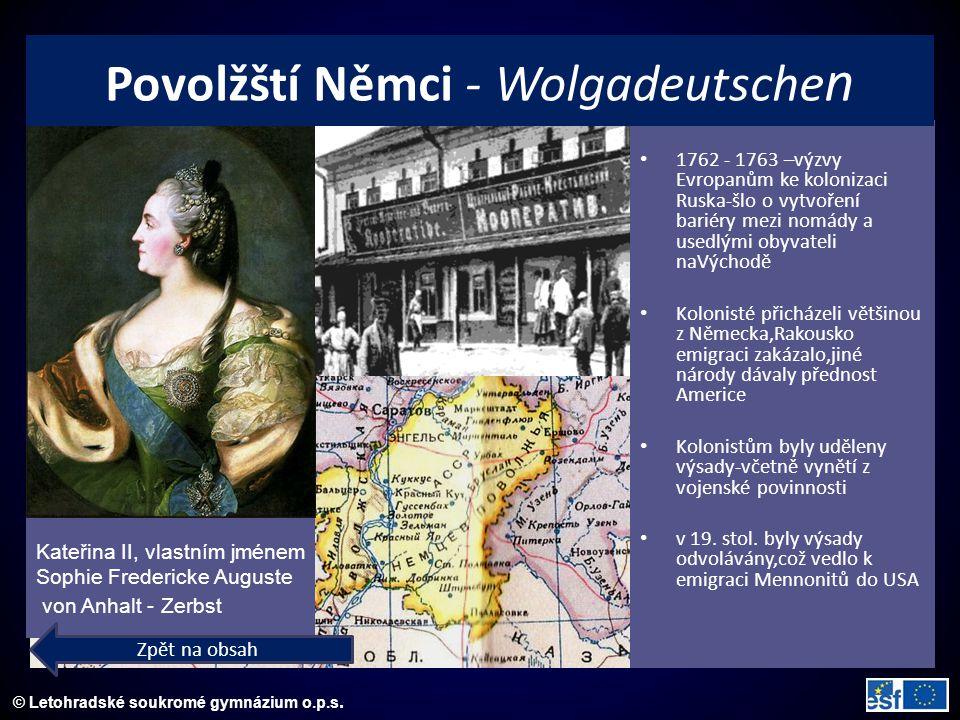 © Letohradské soukromé gymnázium o.p.s. Kateřina II, vlastním jménem Sophie Fredericke Auguste von Anhalt - Zerbst 1762 - 1763 –výzvy Evropanům ke kol
