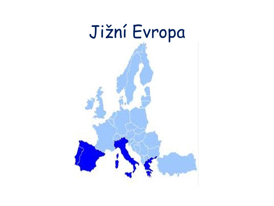 Poloha a rozloha Itálie, Malta, Portugalsko, Řecko, San Marino, Španělsko, Vatikán, Monako a Andorra Jižní Evropa je nejjižnější část evropského kontinentu většina států v jižní Evropě sousedí se Středozemním mořem, výjimkou je Portugalsko a ministáty San Marino a Vatikán některé státy leží na poloostrovech a ostrovech