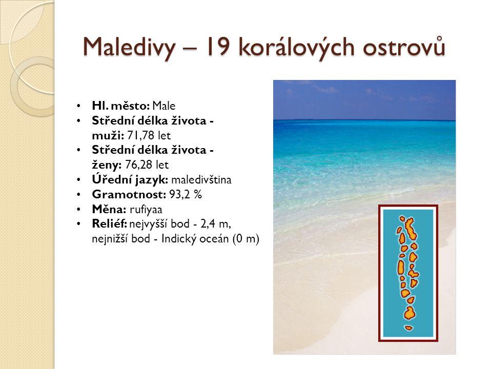 Maledivy – 19 korálových ostrovů Hl.