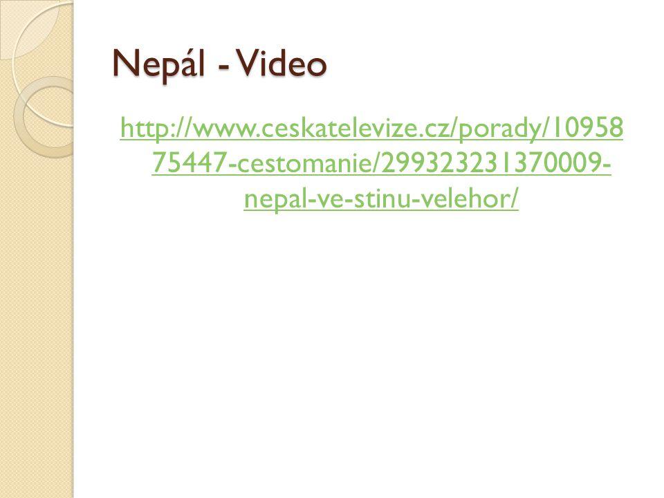 Nepál - Video http://www.ceskatelevize.cz/porady/10958 75447-cestomanie/299323231370009- nepal-ve-stinu-velehor/