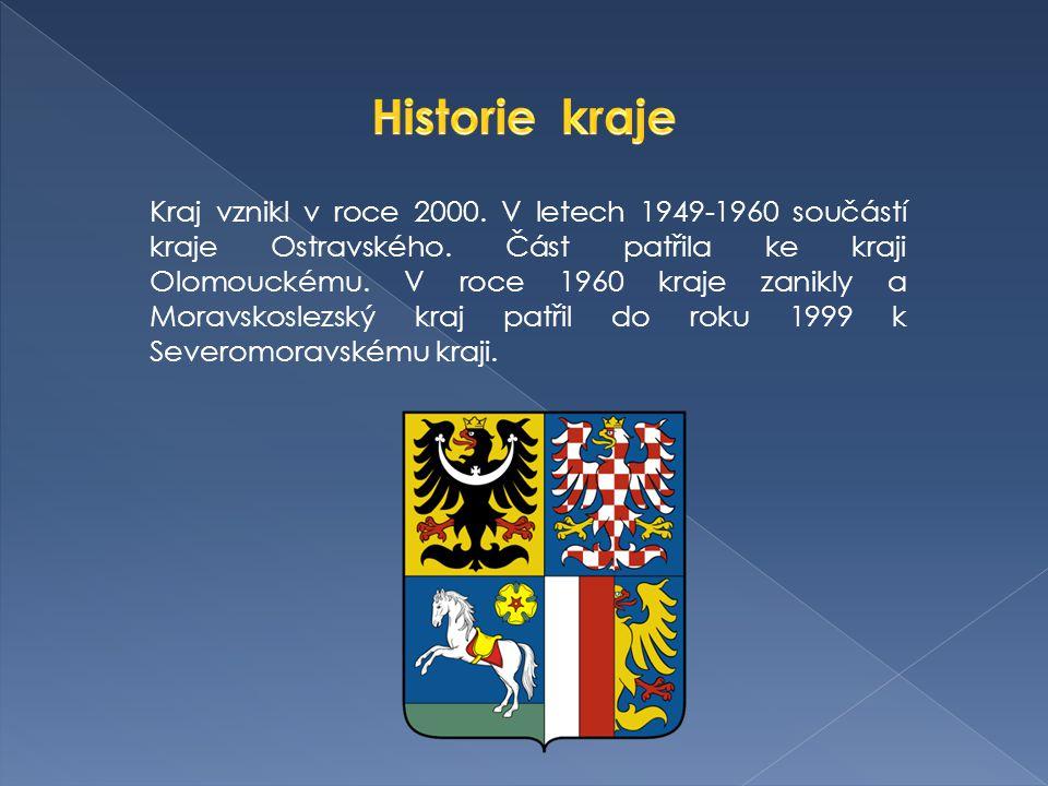 Kraj vznikl v roce 2000. V letech 1949-1960 součástí kraje Ostravského.