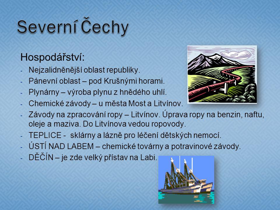 Hospodářství: - Nejzalidněnější oblast republiky. - Pánevní oblast – pod Krušnými horami.