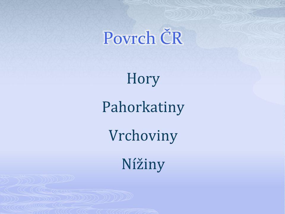 Hory Pahorkatiny Vrchoviny Nížiny