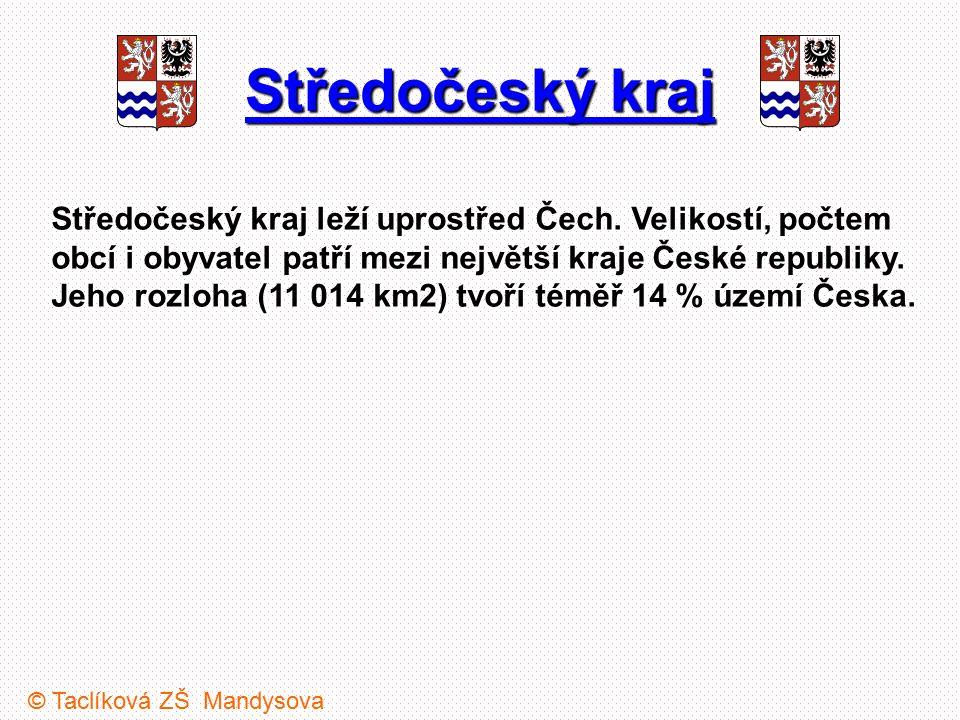 Středočeský kraj Středočeský kraj leží uprostřed Čech. Velikostí, počtem obcí i obyvatel patří mezi největší kraje České republiky. Jeho rozloha (11 0