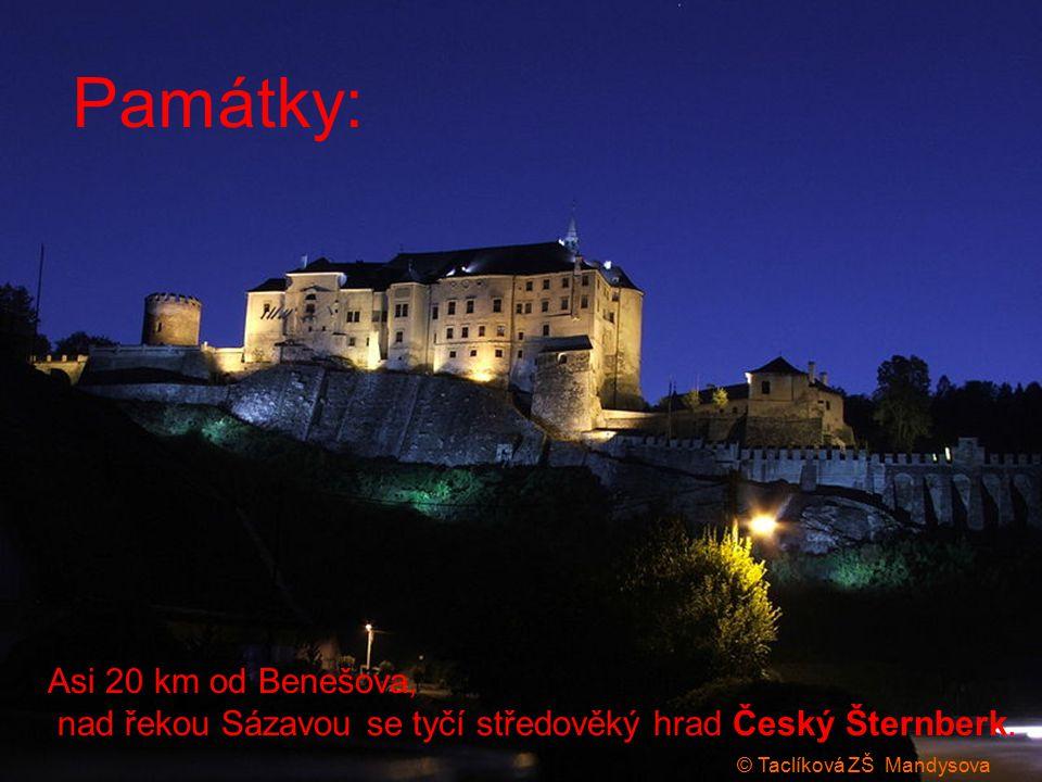 Asi 20 km od Benešova, nad řekou Sázavou se tyčí středověký hrad Český Šternberk.