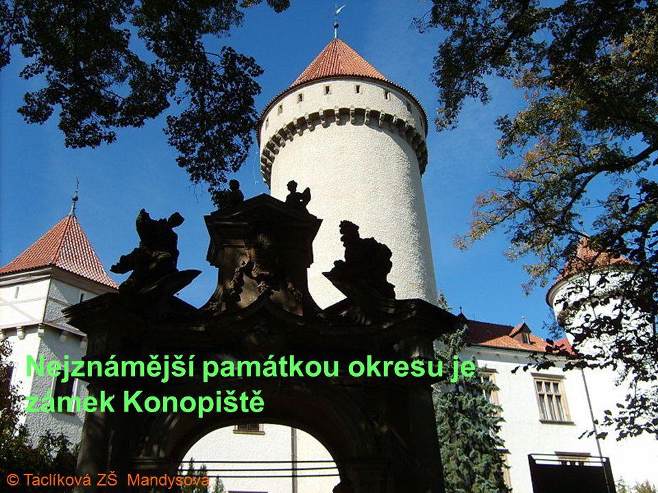 Nejznámější památkou okresu je zámek Konopiště © Taclíková ZŠ Mandysova