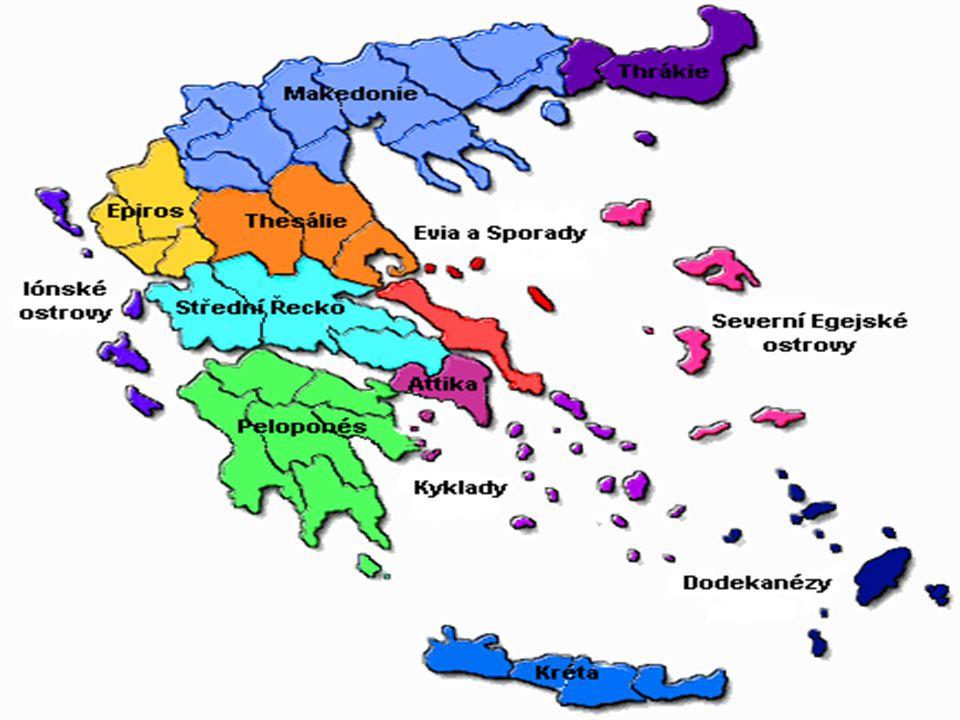 Řecko Hlavní město: Atény Rozloha: 131 940 km² (z toho 0,86% vodní plochy) Nejvyšší bod: Olymp (2 917 m n.