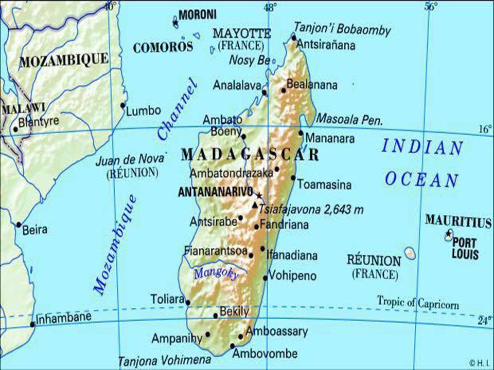 Madagaskar Informace Madagaskar je ostrovní stát v Africe.