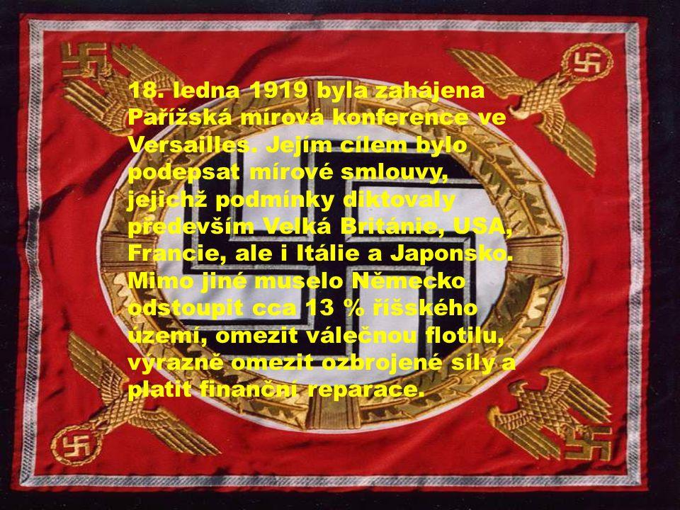 18. ledna 1919 byla zahájena Pařížská mírová konference ve Versailles. Jejím cílem bylo podepsat mírové smlouvy, jejichž podmínky diktovaly především