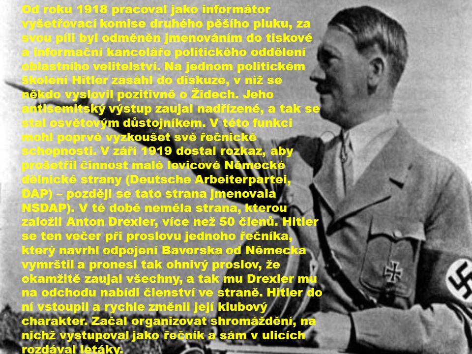 Od roku 1918 pracoval jako informátor vyšetřovací komise druhého pěšího pluku, za svou píli byl odměněn jmenováním do tiskové a informační kanceláře p