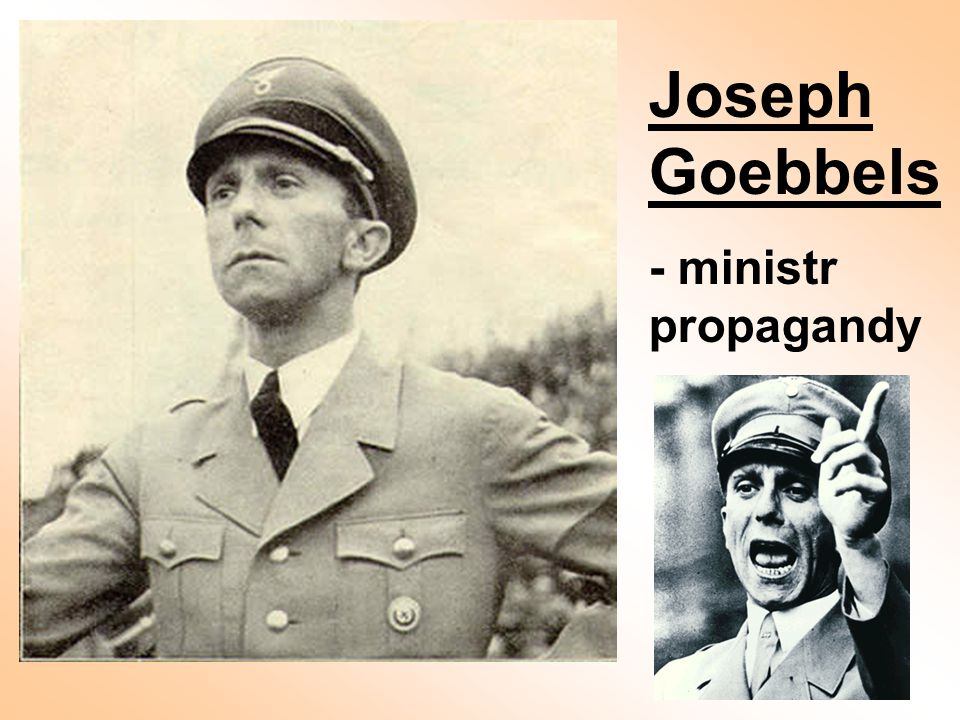 Joseph Goebbels - ministr propagandy