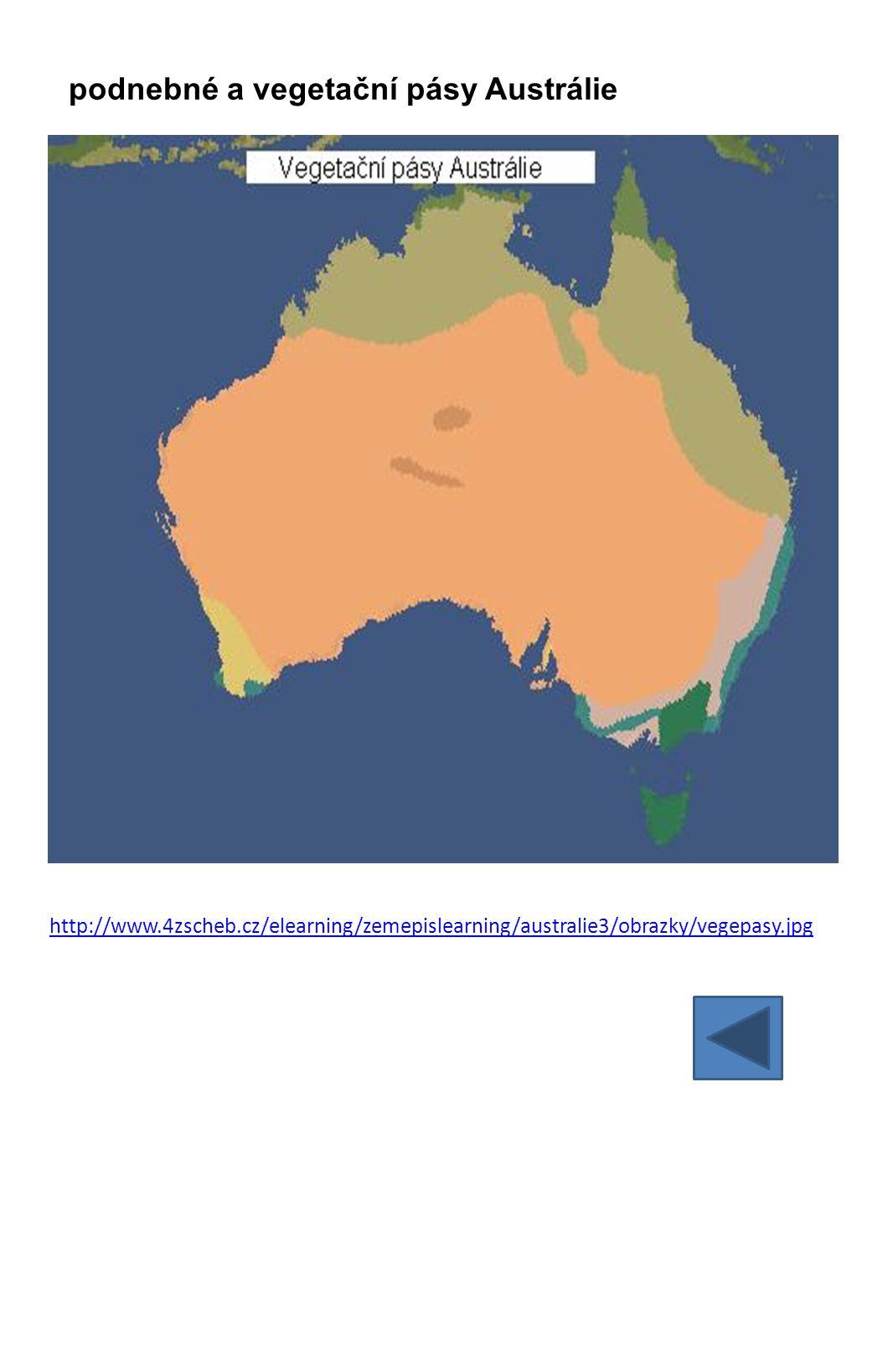 http://www.4zscheb.cz/elearning/zemepislearning/australie3/obrazky/vegepasy.jpg podnebné a vegetační pásy Austrálie