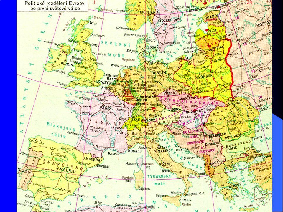 Proč to všechno prošlo Versailleský systém vytvořil nerovnováhu, což bylo v rozporu s britskými představami o zahraniční politice Neshody Británie a Francie v hodnocení Německa: Británii nevadí přiměřeně silné Německo Francii vyhovuje Německo slabé (resentimenty po evropské dominanci)
