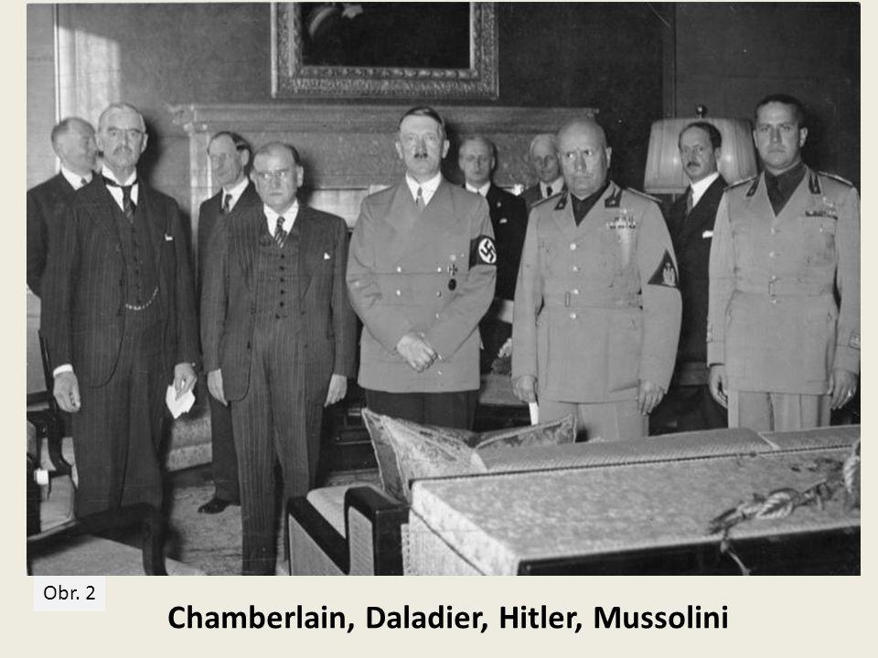Hitler podepisuje 30. 9. 1938 brzy ráno Mnichovskou dohodu Obr. 3