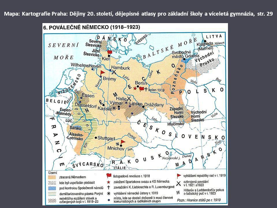 Mapa: Kartografie Praha: Dějiny 20. století, dějepisné atlasy pro základní školy a víceletá gymnázia, str. 29
