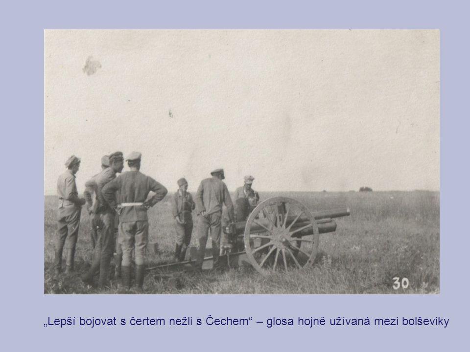 """""""Lepší bojovat s čertem nežli s Čechem"""" – glosa hojně užívaná mezi bolševiky"""