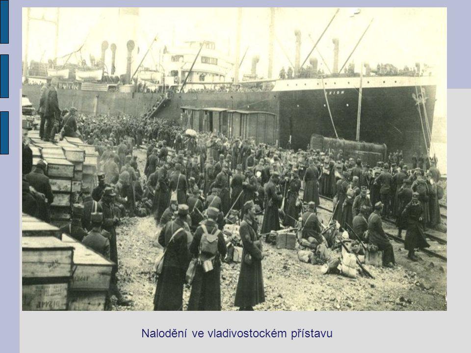 Nalodění ve vladivostockém přístavu