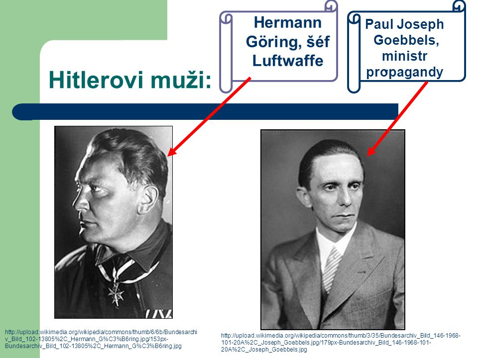 Hitlerovi muži: http://upload.wikimedia.org/wikipedia/commons/thumb/6/6b/Bundesarchi v_Bild_102-13805%2C_Hermann_G%C3%B6ring.jpg/153px- Bundesarchiv_B