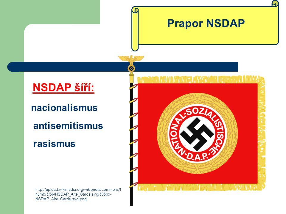 Prapor NSDAP http://upload.wikimedia.org/wikipedia/commons/t humb/5/56/NSDAP_Alte_Garde.svg/585px- NSDAP_Alte_Garde.svg.png nacionalismus rasismus ant