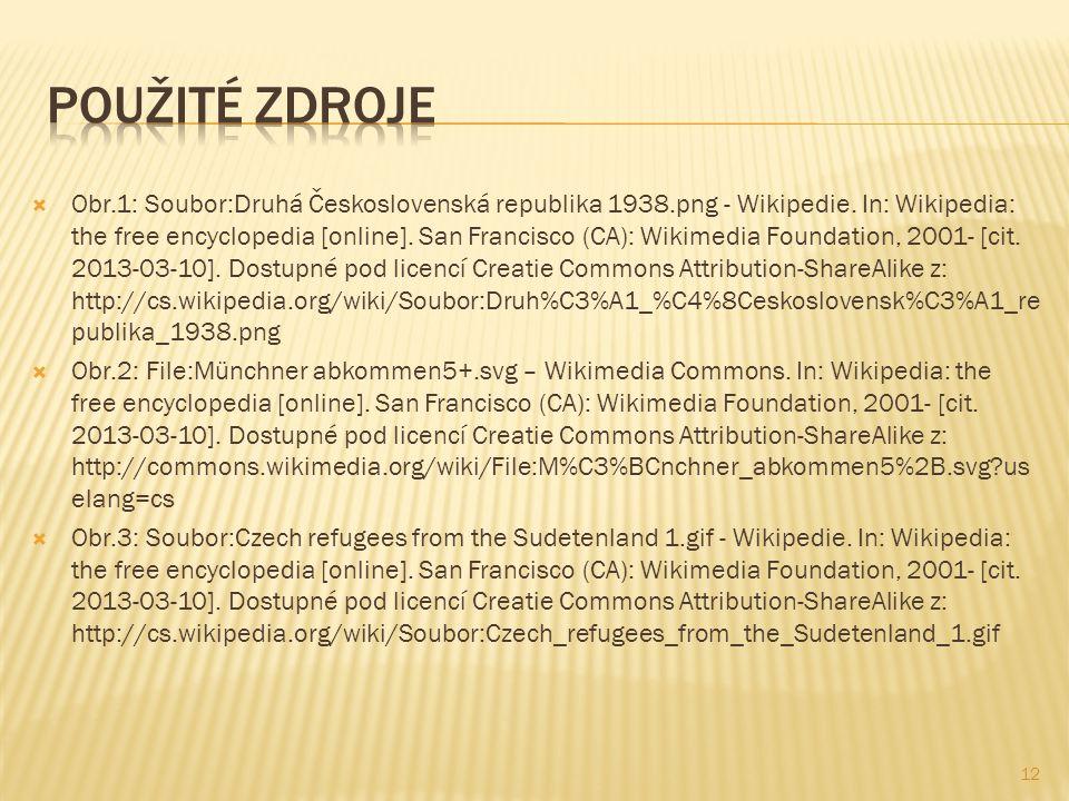  Obr.1: Soubor:Druhá Československá republika 1938.png - Wikipedie.