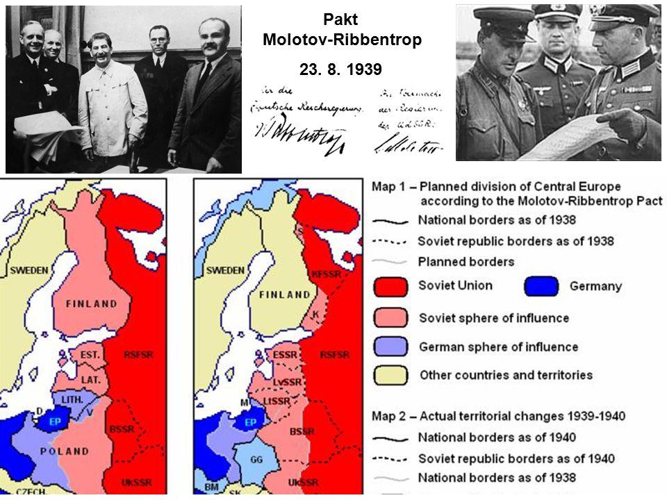 Pakt Molotov-Ribbentrop 23. 8. 1939