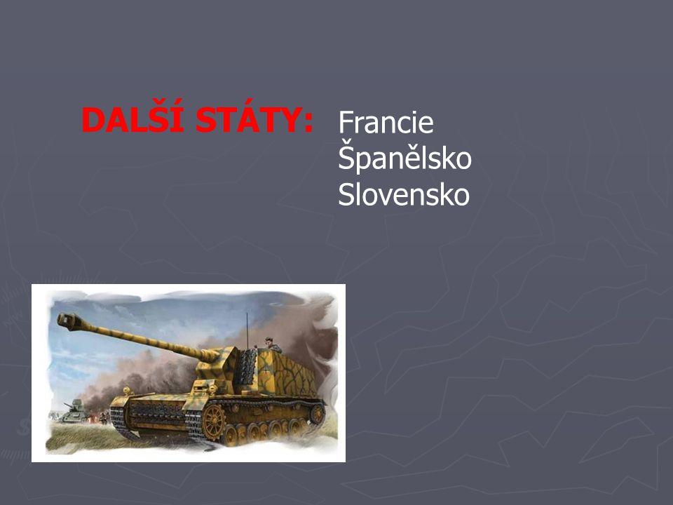 DALŠÍ STÁTY: Francie Španělsko Slovensko