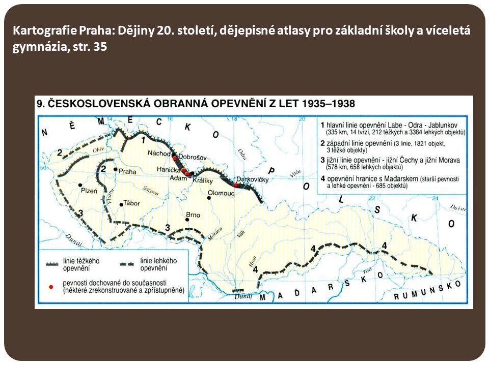 Kartografie Praha: Dějiny 20. století, dějepisné atlasy pro základní školy a víceletá gymnázia, str. 35