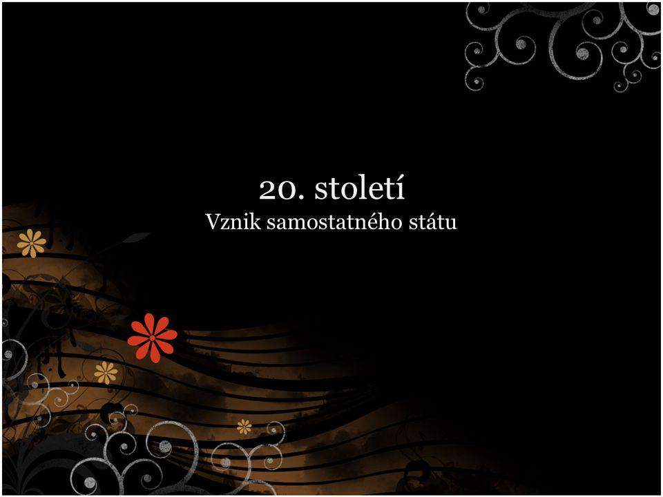 Vyhlášení samost.státu Andrássyho nóta → 28. 10. 1918 – vyhlášení samostatnosti Zákon č.