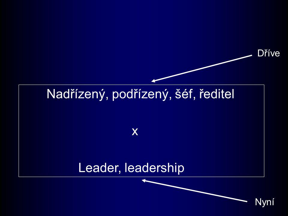Prvky transformačního vůdcovství Definice transformačního vůdcovství většinou obsahují tyto čtyři prvky: –Schopnost vytváření strategických vizí –Schopnosti tyto vize sdělovat –Modelování těchto vizí –Vzbudit v ostatních pocit odpovědnosti za realizaci těchto vizí