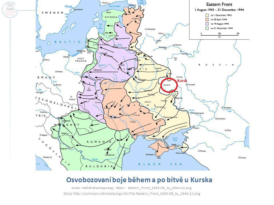 Osvobozovaní boje během a po bitvě u Kurska Autor: Mahahahaneapneap, Název: Eastern_Front_1943-08_to_1944-12.png Zdroj: http://commons.wikimedia.org/w