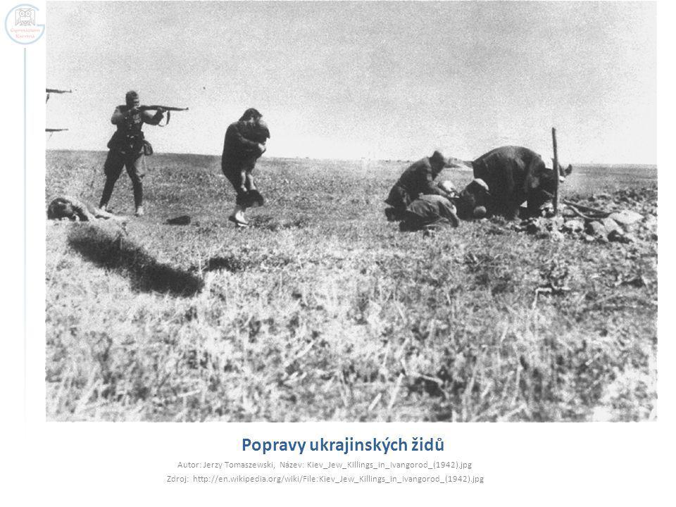 Popravy ukrajinských židů Autor: Jerzy Tomaszewski, Název: Kiev_Jew_Killings_in_Ivangorod_(1942).jpg Zdroj: http://en.wikipedia.org/wiki/File:Kiev_Jew
