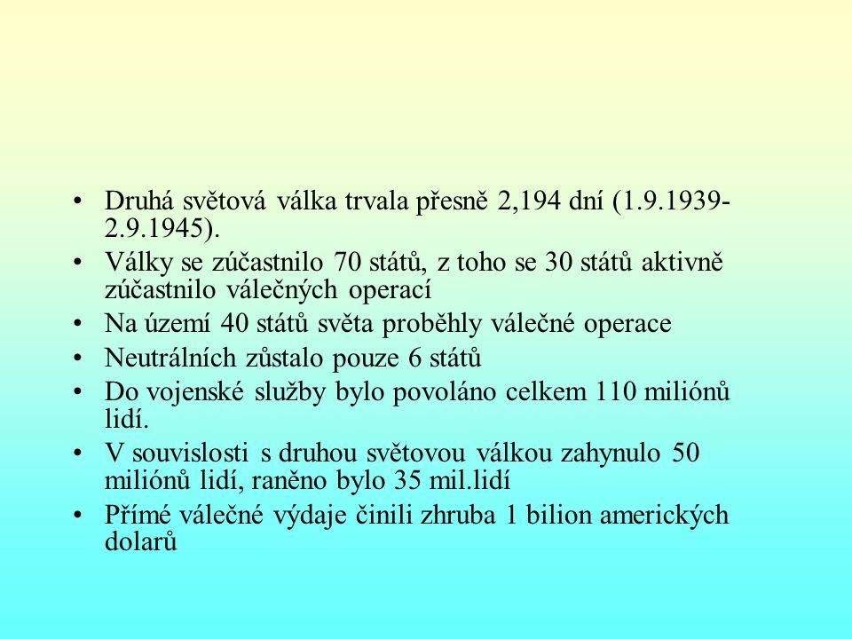 Leden – září 1939 v březnu 1939 Itálie okupovala Albánii ztroskotaly veškeré snahy o pakt kolektivní bezpečnosti 16.března 1939 Protektorát Čechy a Morava 23.8.1939 - uzavřel SSSR a Německo smlouvu o neútočení na deset let; pakt Ribentrop-Molotov; tajná doložka o rozdělení sfér vlivu v Evropě mezi SSSR a Německo