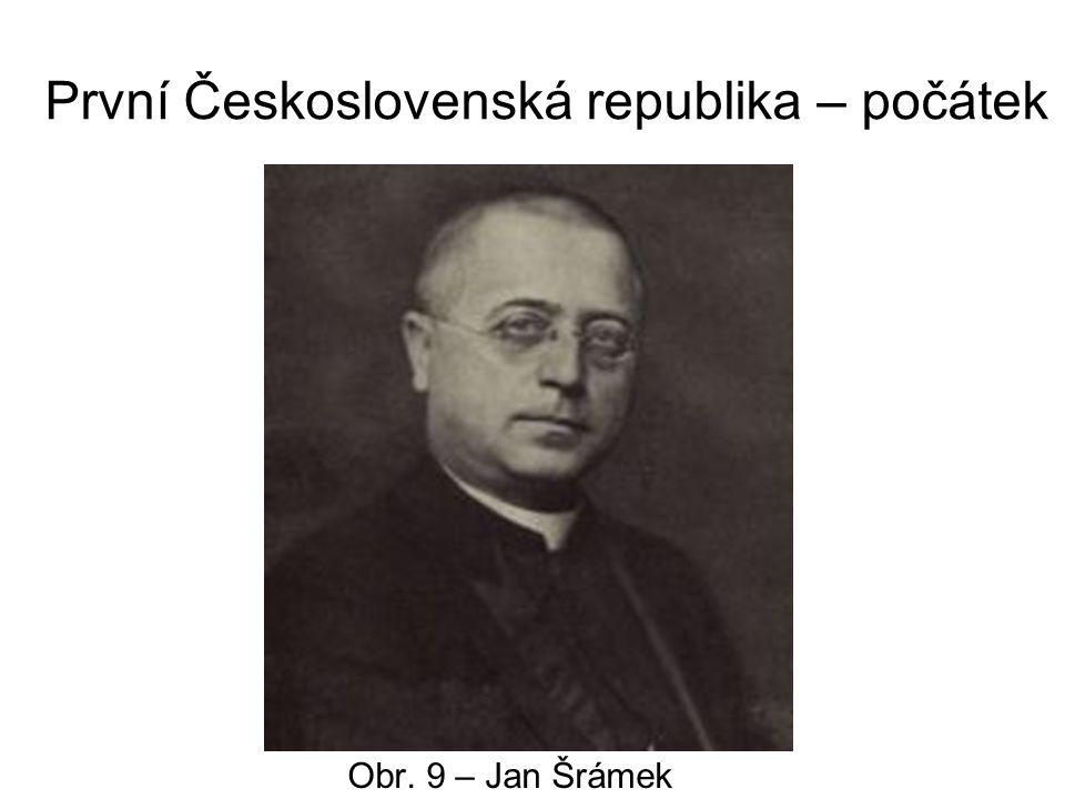 První Československá republika – počátek Obr. 9 – Jan Šrámek