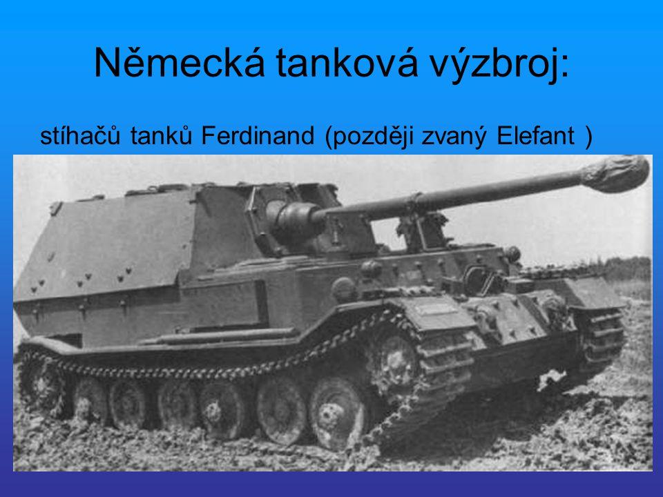 Německá tanková výzbroj: stíhačů tanků Ferdinand (později zvaný Elefant )