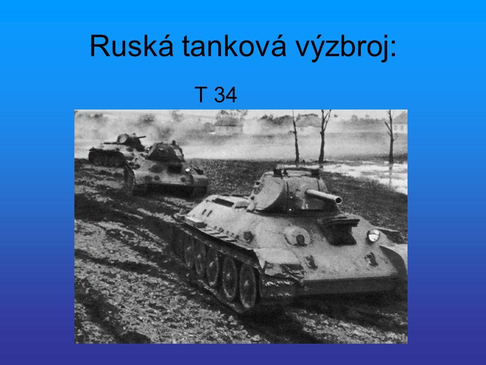Ruská tanková výzbroj: T 34