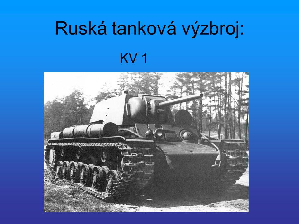 Ruská tanková výzbroj: KV 1
