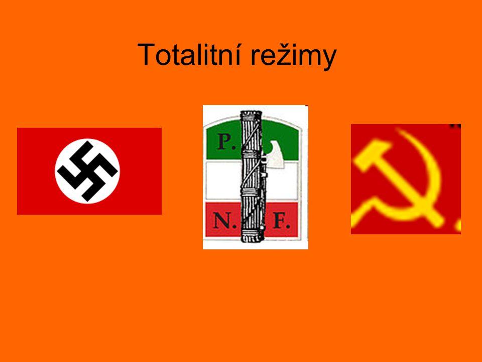 Opakování - nacismus Německo Adolf Hitler Název: nacionální socialismus Strana: NSDAP Rysy: nesnášenlivost vůči Židům (antisemitismus), jiným rasám (rasismus), Slovanům, Romům, politickým a ideologickým odpůrcům, homosexuálům,… Vzory: staří Germáni, Vikingové
