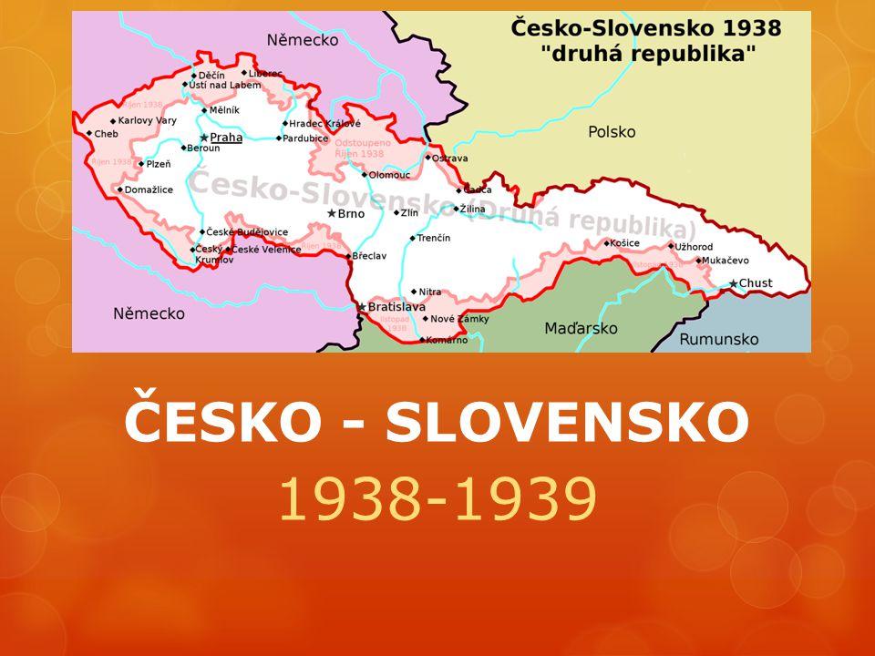 ČESKO - SLOVENSKO 1938-1939