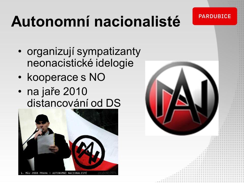 Autonomní nacionalisté organizují sympatizanty neonacistické idelogie kooperace s NO na jaře 2010 distancování od DS