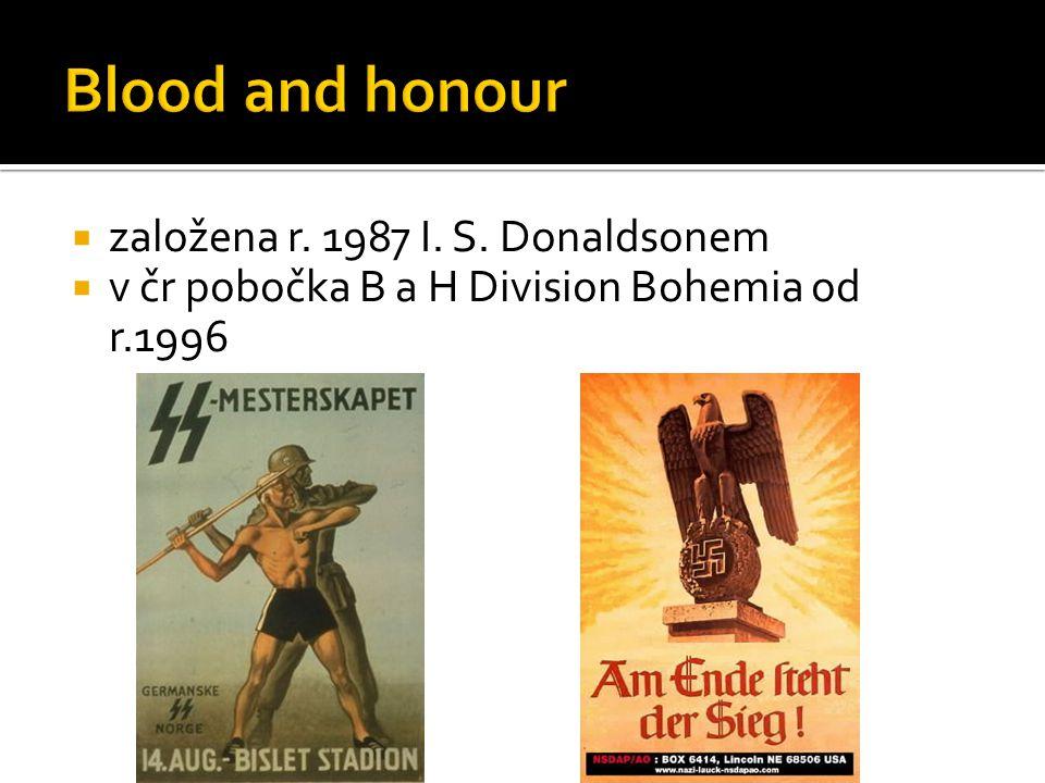  založena r. 1987 I. S. Donaldsonem  v čr pobočka B a H Division Bohemia od r.1996