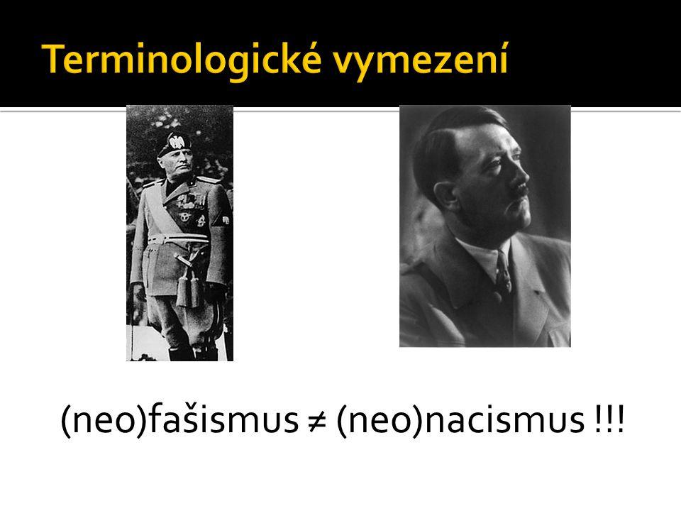 (neo)fašismus ≠ (neo)nacismus !!!