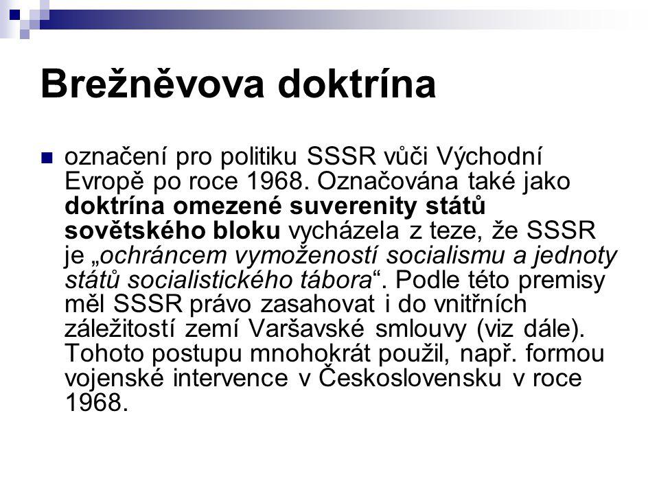 Brežněvova doktrína označení pro politiku SSSR vůči Východní Evropě po roce 1968.