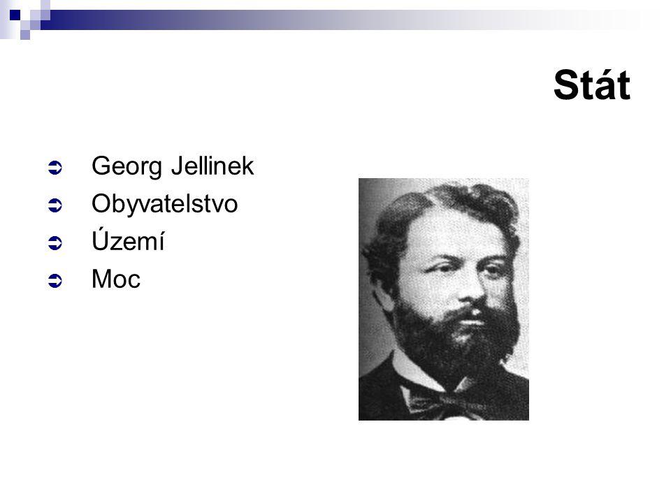  Georg Jellinek  Obyvatelstvo  Území  Moc