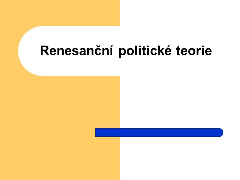 Renesanční politické teorie