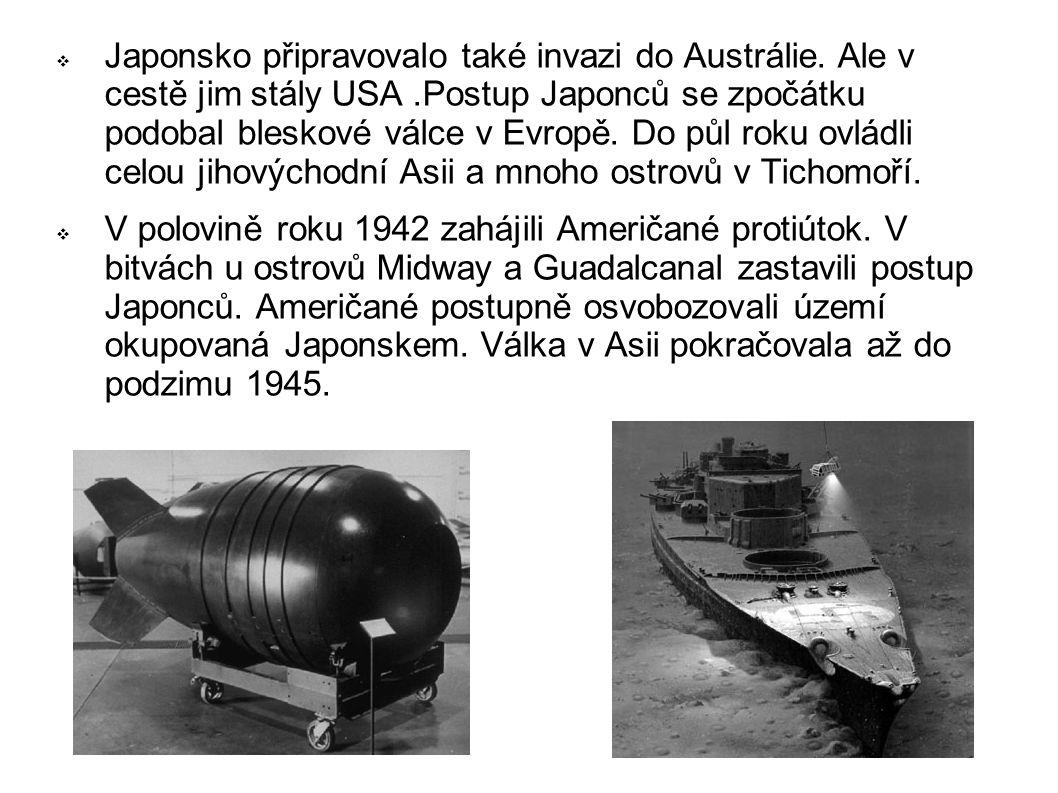  Japonsko připravovalo také invazi do Austrálie.