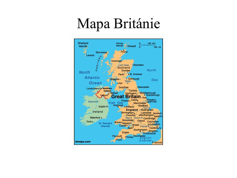 Mapa Británie
